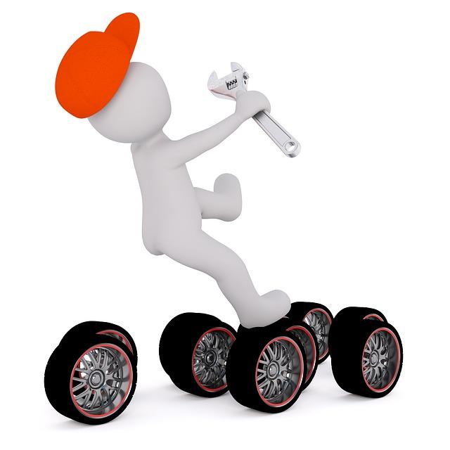 panáček na pneumatikách