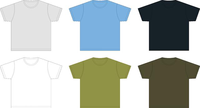 Šest jednobarevných triček v řadě