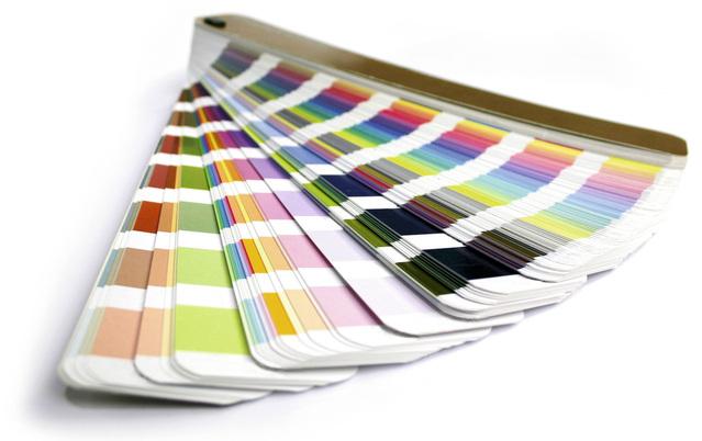 Vzorkovnice barevná škála ve tvaru vějíře