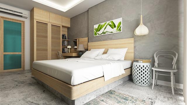 světlá moderní ložnice